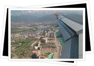 Puerto Vallarta from the plane